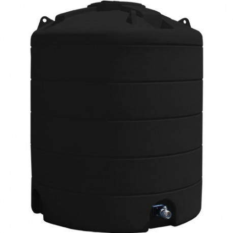 Cuve de stockage d'eau 6000L noire