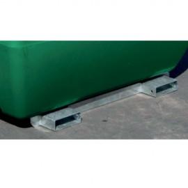 Châssis galvanisé pour cuve de transport fioul 200L