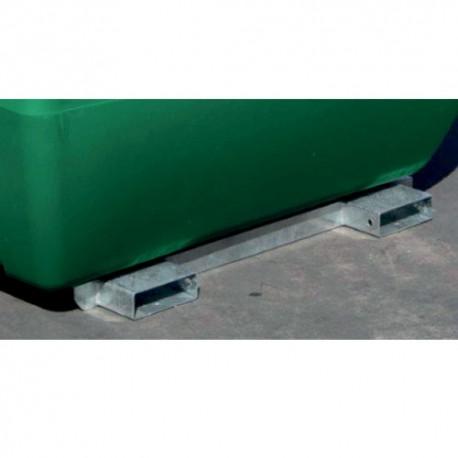Châssis galvanisé pour cuve de transport fioul 400L